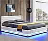 Кровать с подьемным механизмом TOU 140х200 см. с LED подсветкой