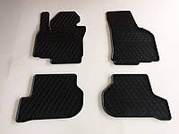 Ковры салона резиновые Stingray Skoda Octavia II 04-13 / VW Golf 5 04-09 / Golf 6 10-13 / Jetta 05-10 комплект 4 шт.