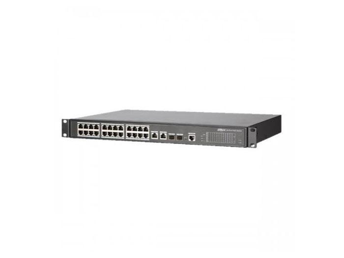24-портовый управляемый гигабитный POE коммутатор PFS4226-24ET-240
