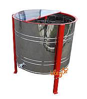 8-ми рамочная нержавеющая «ЕВРО» Медогонка, автоматическая полуповоротная под рамку «Дадан» (ротор Н/Ж, с крыш