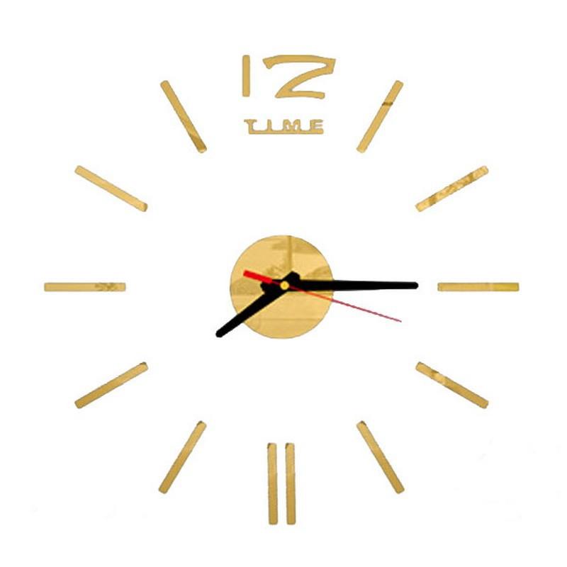 Настенные часы - стикеры Z-time золотистый