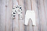"Набор ползунков ""Лес"" для ребенка с 3 месяцев до 1 года (штанишки 2 шт., размер 62, 68, 74, 80) ТМ MagBaby Молочный"