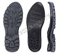 Подошва для обуви JB 5358, цв. черный с серым 45