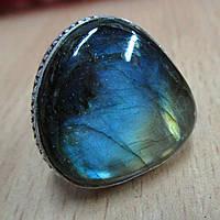 "Кольцо ""Синее золото"" с ярким лабрадором, размер 17,3 от студии LadyStyle.Biz, фото 1"