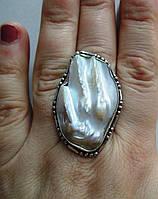"""Жемчужное кольцо  """"Море"""" с  жемчугом, размер 18,4  от студии LadyStyle.Biz, фото 1"""