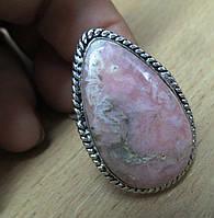 Крупное кольцо с родохрозитом , размер 19,7 от студии LadyStyle.Biz