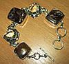 """Серебряной браслет с  петерситом и горным хрусталем """"Обереговый"""" от LadyStyle.Biz"""