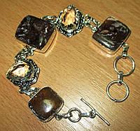 """Серебряной браслет с  петерситом и горным хрусталем """"Обереговый"""" от LadyStyle.Biz, фото 1"""