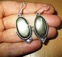 """Серебряные серьги с  пиритом  """"Индия""""  от студии LadyStyle.Biz, фото 1"""