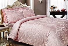 Комплект постельного белья Tivolyo Home жаккард ARREDO евро розовый
