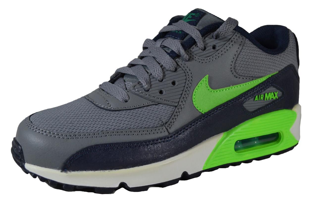 Кроссовки женские Nike Air Max 90 Mesh Gs Grigio Verde Bambino 724824-013 ( 4e308497a36