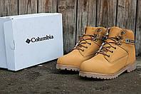 Зимние мужские ботинки Columbia (Коламбия) рыжие