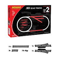 Дополнительный набор рельсов (15 дорожек, 15 смычек) F102 ТМ: Mehano