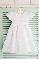 Нарядное платье для девочки Flavien 7024 р.80 белый 7024/01
