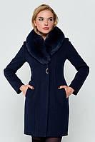 """Утепленное пальто """"Вайнона"""" синее"""