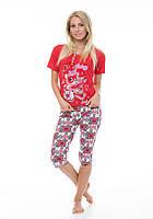 Пижама женская,комплект Турция,хлопок.Футболка+бриджи., фото 1