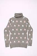Вязанный свитер под горло для девочек ADA (128-152), фото 1