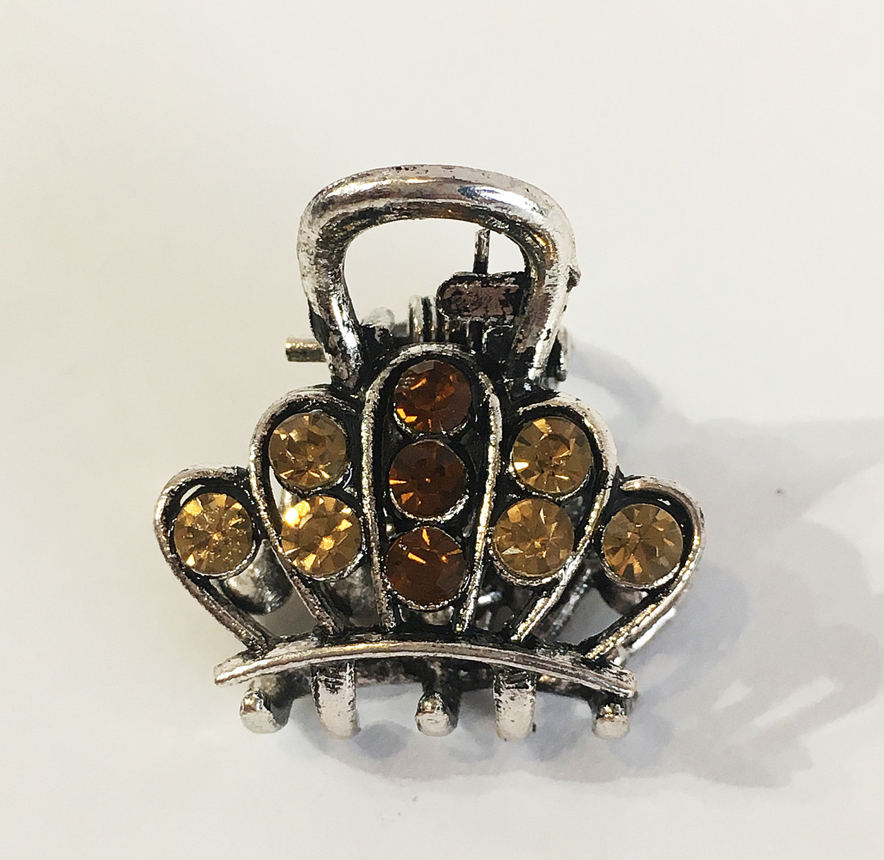 Заколка краб металл мини Баронесса ассорти ( упаковка)