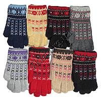 """Перчатки подростковые для девочек Корона """"Крестики"""" Оптом 544"""