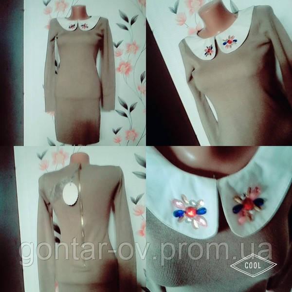 Трикотажное женское  платье миди -М-Л