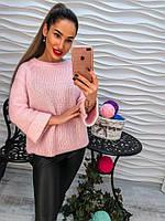 Женский красивый свитер с жемчугом (2 цвета)