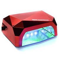 LED+CCFL Лампа для маникюра Diamond 36W Красная