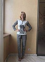 Женская пижама на байке «Леопард»
