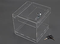 Ящик для пожертвований 150x150x150 + замок (Cash box). Объем 3,3 литров