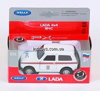 Welly. Модель LADA 4X4 МЧС /36/(42386RE-W)