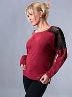 Свитер женский бордовый, фото 1