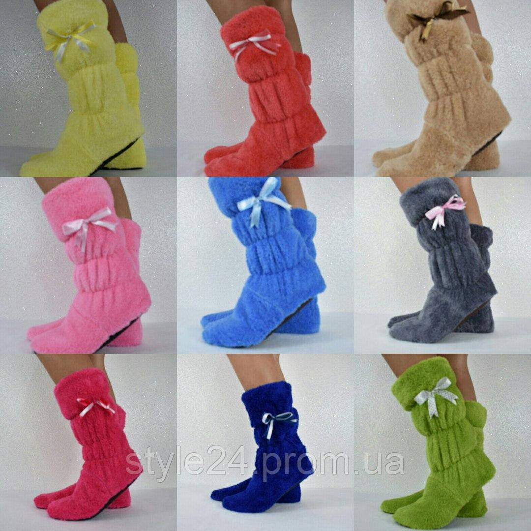 Жіночі тапочки сапожки з махри.Р-ри 35-40. 9 кольорів в наявності