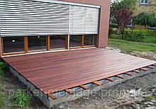Укладка террасной доски и садового паркета на подготовленное основание