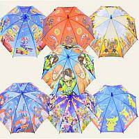 Зонт 6 видов, с рисунком, для мальчиков  в п/э 50см /120-4/(CEL-35)