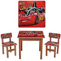 Детский столик и 2 стульчика F193 Тачки