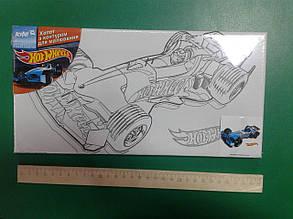 """Холст з контуром для малювання Kite """"Hot Wheels"""" 15*30см HW14-215K"""