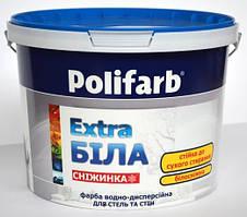 Краска интерьерная Polifarb Снежинка, 12,5 кг