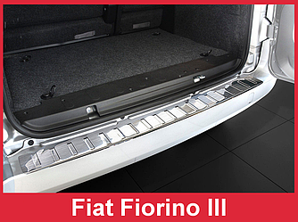 Накладка на задний бампер тюнинг Fiat Fiorino III