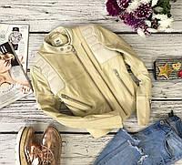 Дизайнерская куртка-косуха H&M Studio из матовой натуральной кожи   OW 4455