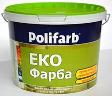 Краска интерьерная Polifarb Экофарба, 14 кг