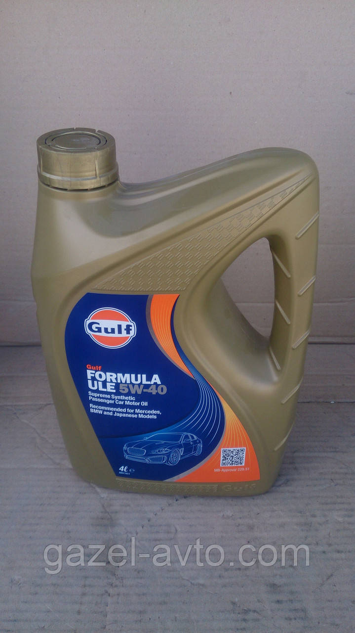 Масло моторное GULF Formula ULE 5W-40 4л