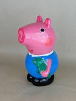 Копилка Свинка Джордж из мультика Свинка Пеппа, сувенир или статуэтка керамическая украинского производства