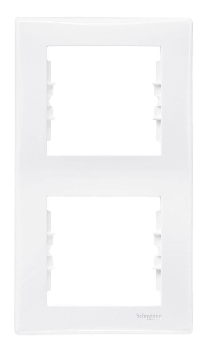 Рамка на 2 поста вертикальная, белый - Schneider Electric Sedna