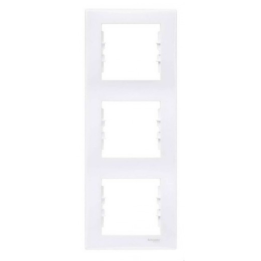 Рамка на 3 поста вертикальная, белый - Schneider Electric Sedna