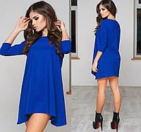 Свободное трикотажное платье 1038 ПА