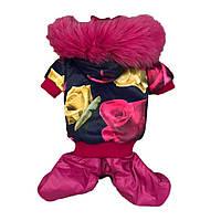 Комбинезон для собаки двойка для девочки -Розовый