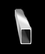 Труба  алюминиевая 40х25 мм 6060 Т6 прямоугольная, фото 2