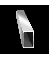 Труба  алюминиевая прямоугольная 40х25 мм 6060 Т6, фото 2