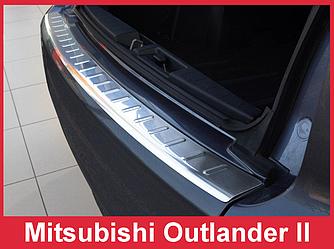 Накладка на задний бампер тюнинг Mitsubishi Outlander 2