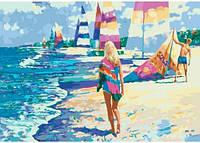 На Мальдивах, серия Морской пейзаж, рисование по номерам, 35 х 50 см, Идейка, на мальдивах (КН-2718)