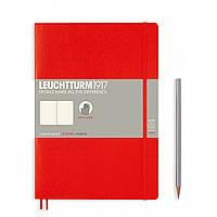 Блокнот Leuchtturm1917 Мягкая обложка Средний (B5) Красный с Чистыми листами (17,8х25,4 см) (349305), фото 1